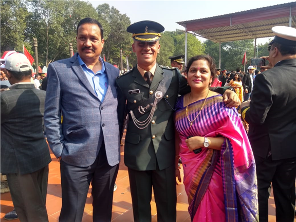 Our School's  ex Headboy Akshat Mishra has been commissioned into the Indian Army as lieutenant.