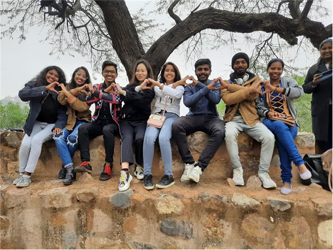 BJMC students visit to Bhuli Bhatyari, Delhi