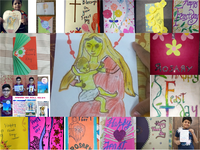 Rosary Day Activity Class - 6 Topic - Greeting Card Making
