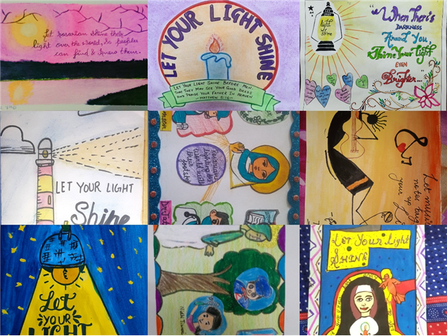 Rosary Day Activities  Class- 7 Post Card Making Theme - Let your light shine